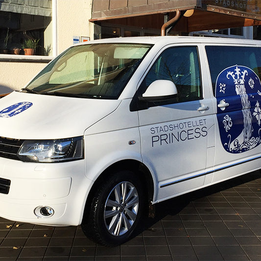 Parkering Parking Hotell Princess Shuttle bus